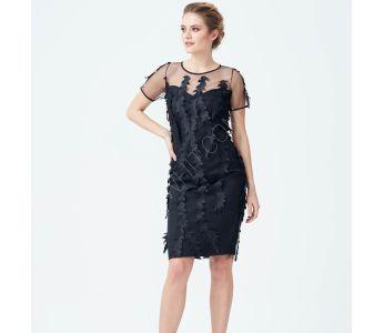 112f40136ad4d فستان رسمي قصير مزين دانتيل شفاف من الاعلى -للبيع بالجملة - سيتشيل ستور -  secilstore