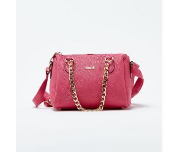 4ebe92a44a998 حقيبة يد نسائية مع حزام معدن - فوشيا - باسعار الجملة - سيتشيل ستور -  secilstore