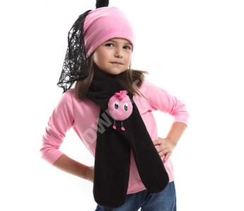 32978ebaf طقم اطفال بناتي قبعة + لفحة - للبيع بالجملة - دينو كيدز - denokids