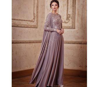 02bbf498e3976 فستان نسائي باكمام طويلة مطرز رسمي - بانسب الاسعار - سيتشيل ستور -  secilstore