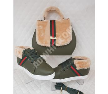 b31a164ef6be7 طقم نسائي - حقيبة مع حذاء