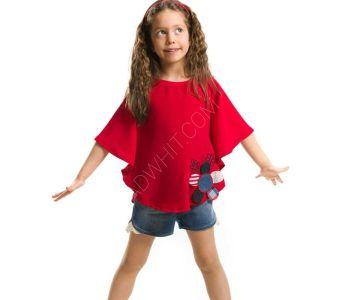6f5053917 طقم اطفال بناتي شورت + بلوز - باسعار الجملة - دينو كيدز - denokids