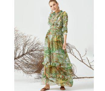 fad9b9b806ad7 فستان سبور طويل مورد مع كشكش - بسعر الجملة - سيتشيل ستور - secilstore