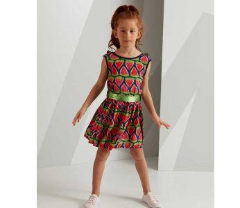 523f5d42d فستان اطفال بناتي منقش بطيخ - للبيع بالجملة - دينو كيدز - denokids