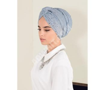 46b7fca9b حجاب تركي مزين بستراس - باسعار منافسة - باسعار الجملة - الفينا -  alvinaonline