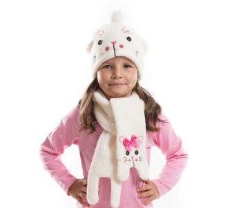 2fad8f198 طقم اطفال بناتي قبعة + لفحة - باسعار الجملة - دينو كيدز - denokids