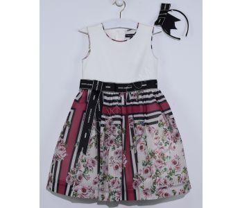 0888bab7e فستان اطفال بناتي حفر منقش بورد - باسعار الجملة - دونا - Dona