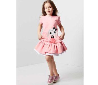 9f14aae7b فستان اطفال بناتي مع كشكش - باسعار الجملة - دينو كيدز - denokids