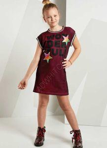 ec4db9189195a فستان اطفال بناتي مع كتابة - بسعار مخفضة - دينو كيدز - denokids
