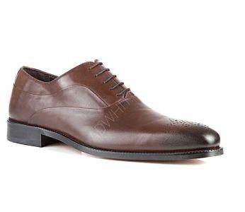 eeca3357e حذاء رجالي رسمي جلد - بني - للبيع بالجملة - دي اس دامات - DS damat