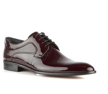8f78b2f2c0cae حذاء رجالي جلد لامع برباط رسمي باسعار مخفضة - دي اس دامات - DS damat