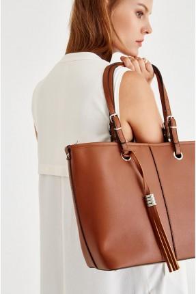 حقيبة يد نسائية جلد _ بني