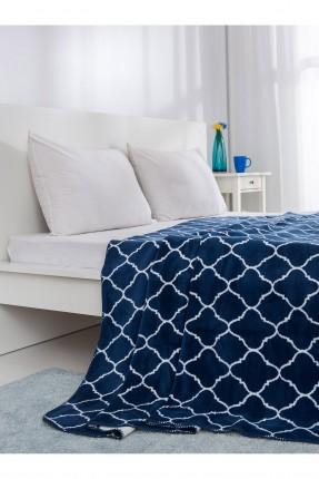 بطانية سرير مجوز - نيلي