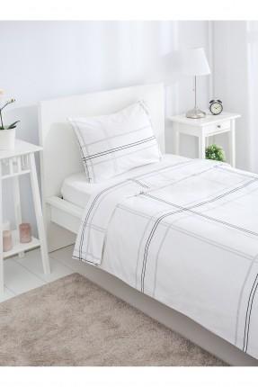 طقم سرير مفرد - رمادي
