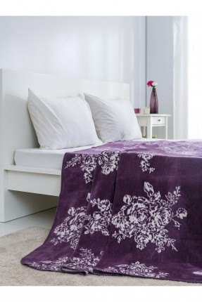 بطانية سرير مجوز - بنفسجي