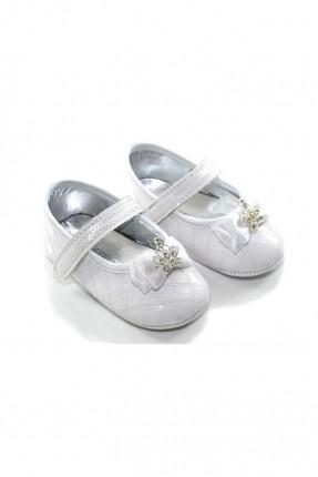 حذاء بيبي بناتي _ ابيض