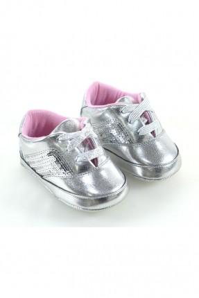 حذاء بيبي بناتي _ فضي