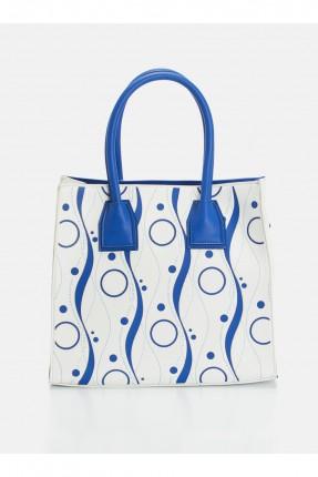حقيبة يد نسائية مزخرفة _ ازرق