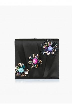 حقيبة يد مزهرة