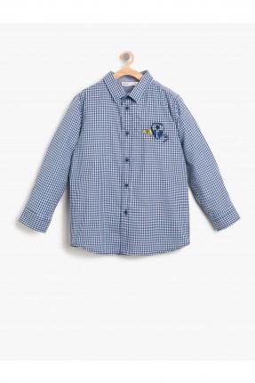 قميص اطفال ولادي - ازرق فاتح