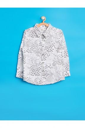 قميص اطفال ولادي - ابيض