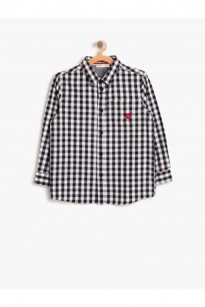 قميص اطفال ولادي - اسود