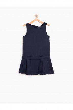 فستان اطفال بناتي - نيلي