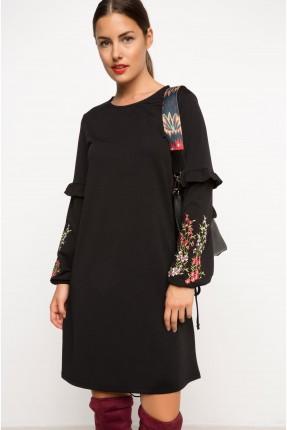 فستان سبور قصير مطرز