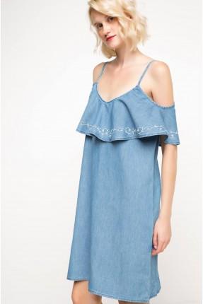 فستان سبور مع كشكش