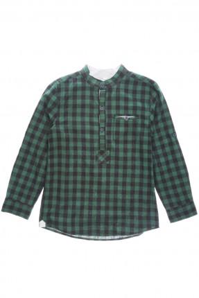 قميص اطفال ولادي كارو - اخضر