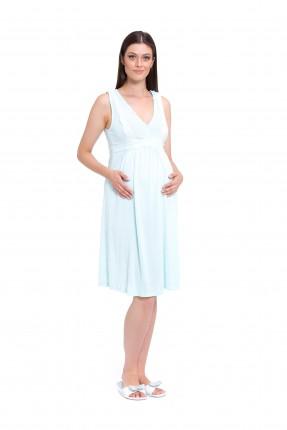 فستان نوم حامل - ازرق