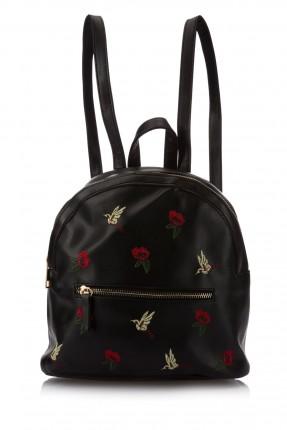 حقيبة ظهر نسائية مزهرة
