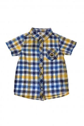 قميص اطفال ولادي كارو - كحلي