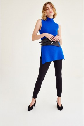 بلوز نسائي تلبس على وجهين _ ازرق داكن