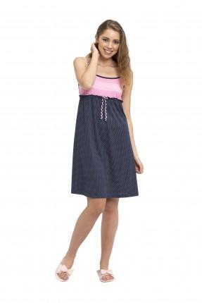 فستان نوم نسائي - نيلي