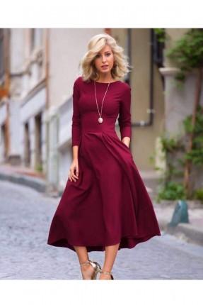 فستان سبور _ خمري