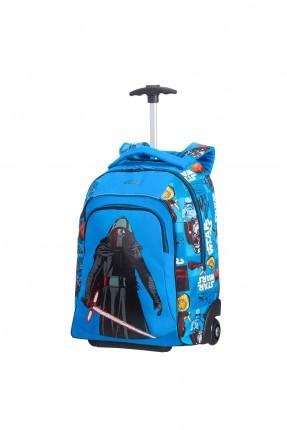 حقيبة مدرسية مع رسمة ستار وورز مع دواليب