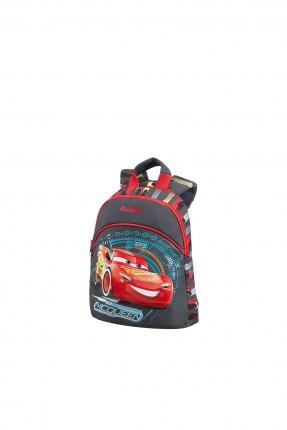 حقيبة  مدرسية مع رسمة السيارة الحمراء