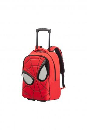 حقيبة مدرسية بشكل سبايدرمان مع دواليب