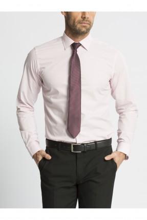 قميص رجالي كم طويل - وردي