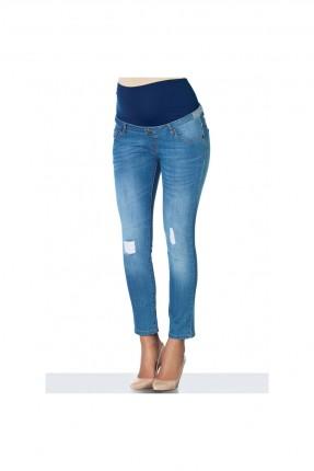 بنطال حامل جينز - ازرق