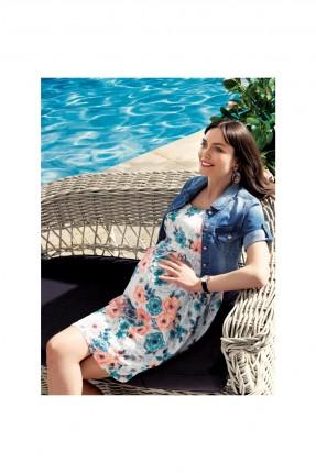فستان حامل سبور - ابيض