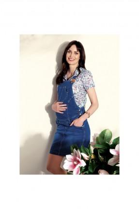 فستان حامل سبور جينز - ازرق