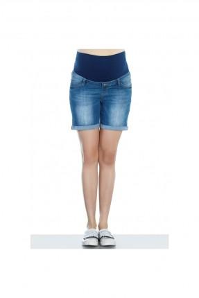 شورت حامل جينز - ازرق