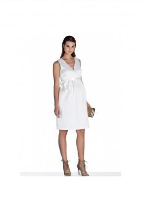 فستان حامل قصير - ابيض