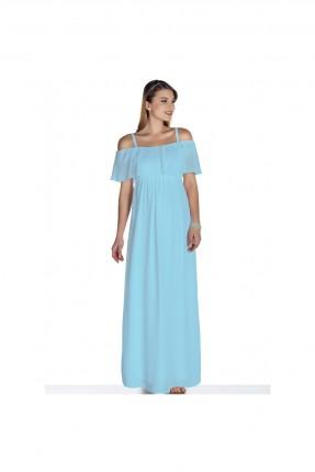 فستان حامل طويل - ازرق