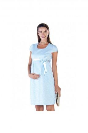 فستان حامل قصير - ازرق