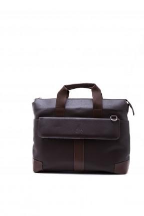 حقيبة يد رجالي - بني