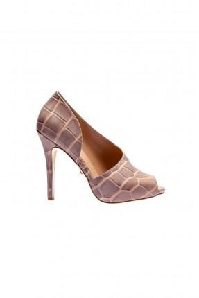 حذاء نسائي جلد _ بيج