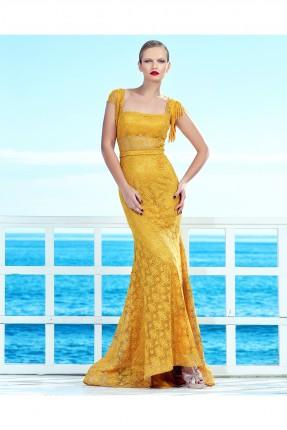 فستان نسائي رسمي - اصفر